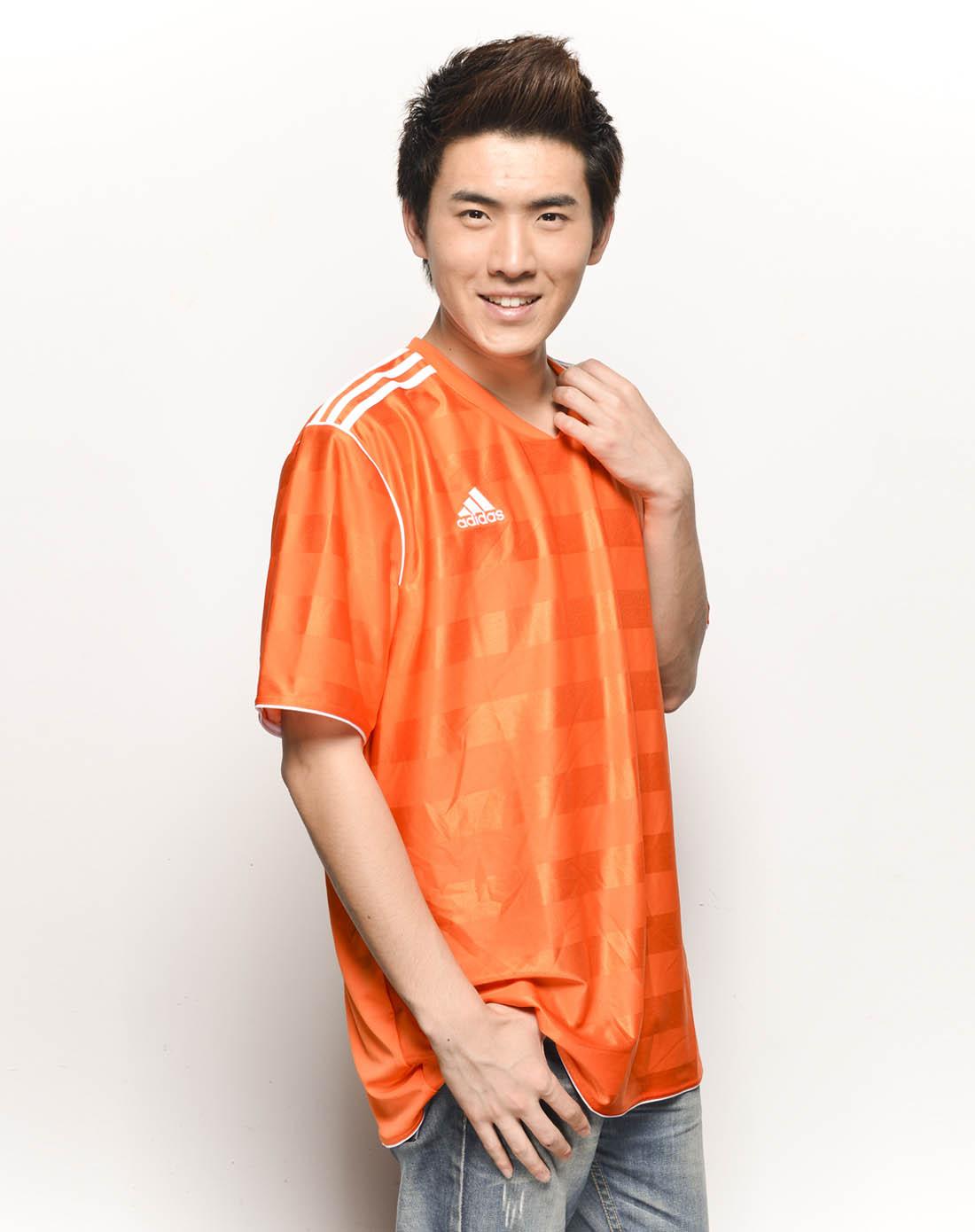 阿迪达斯adidas男子橙色比赛服o07601