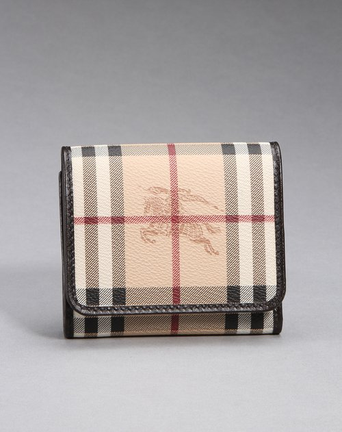 burberry女款经典图案钱包卡其/黑/红色