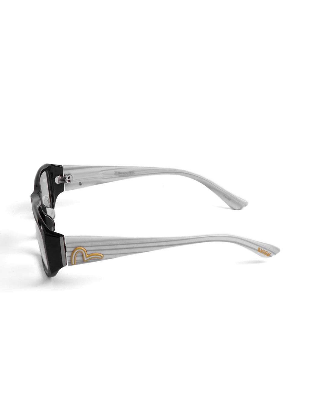 惠美寿evisu眼镜专场经典边框黑白色全框眼镜evf--6m