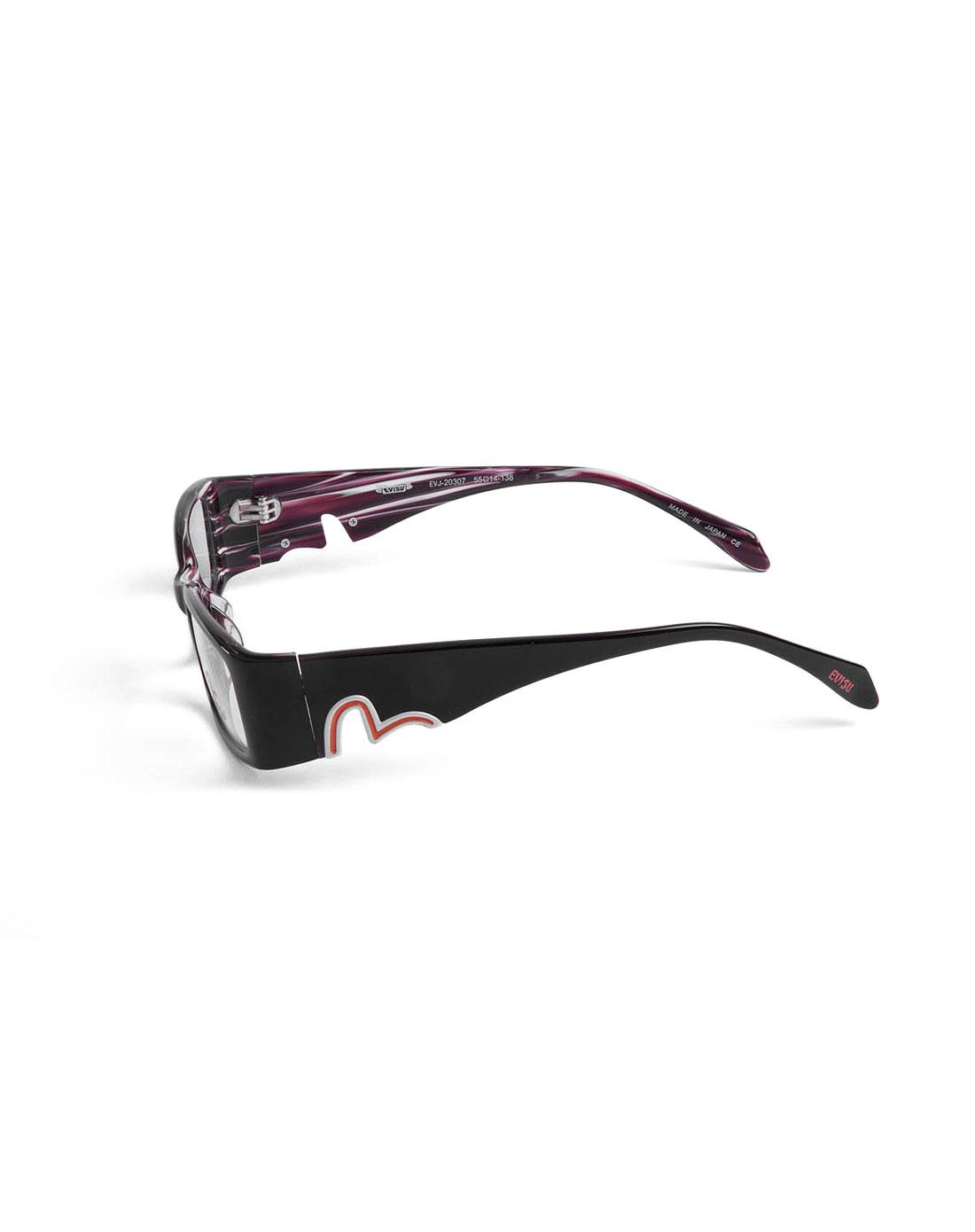 潮流边框紫黑色全框眼镜