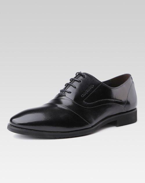 棕色头层牛皮时尚商务休闲皮鞋