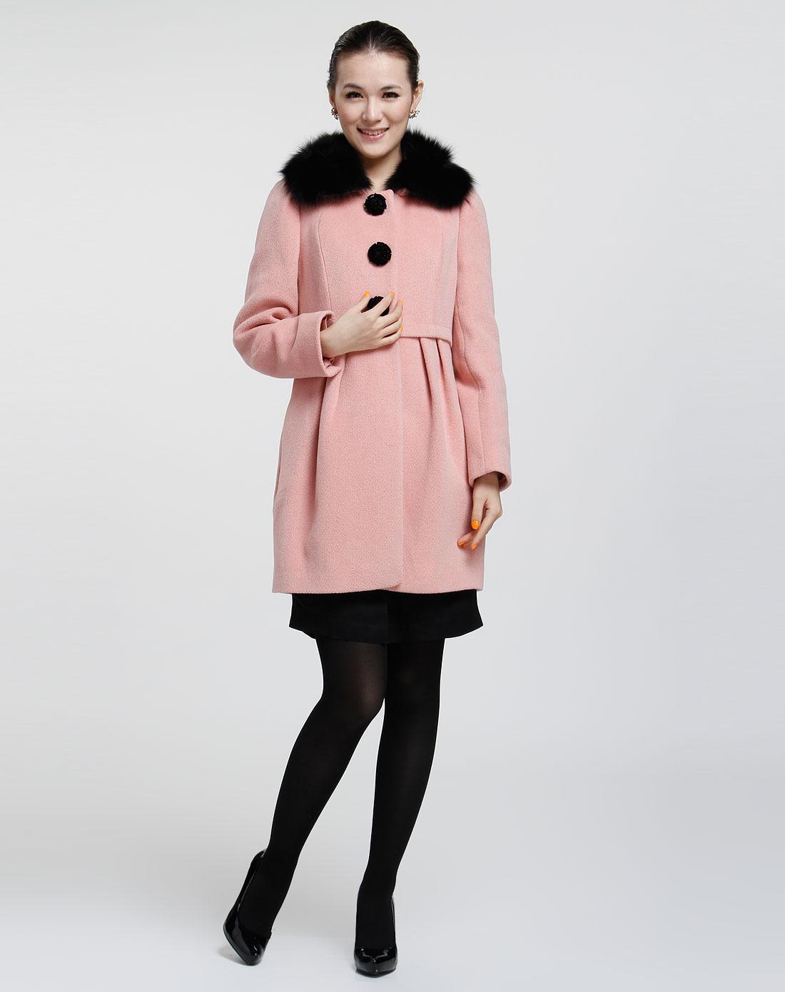 惠粉红_最后约惠-男女服饰专场-斯尔丽 女款粉红大衣