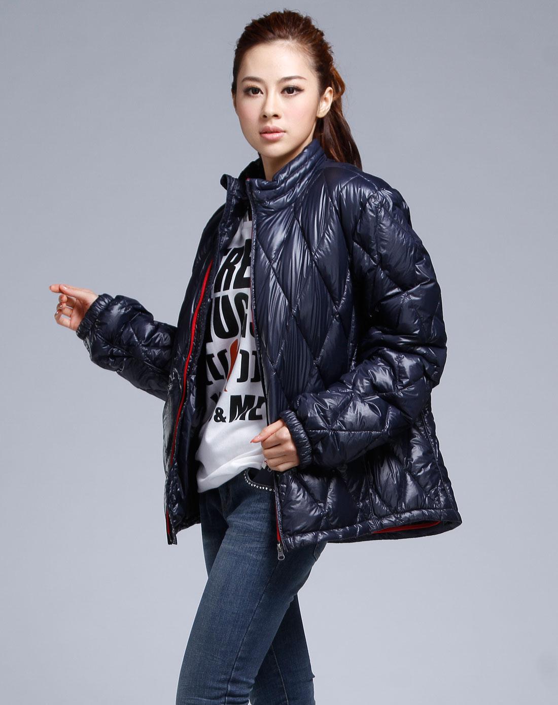 苍���n����b%�aj:f�_乔治·阿玛尼aj女款藏青色长袖外套76b5595_唯品会