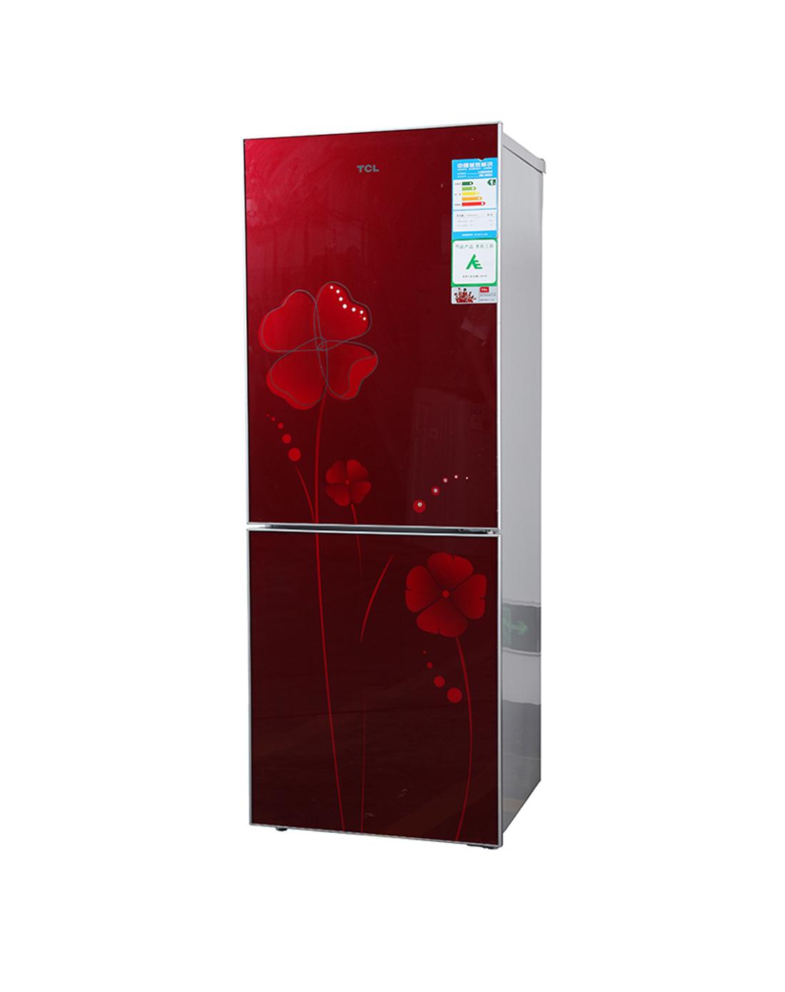 钢化玻璃面板 冷藏冷冻冰箱 双门式 直冷
