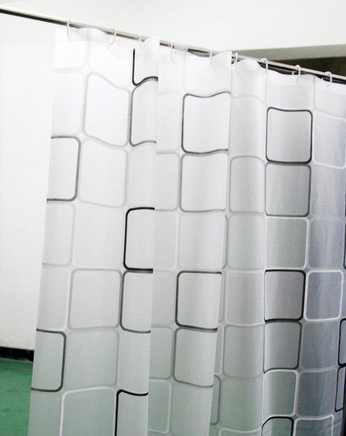 h&3 黑白色魔方浴帘