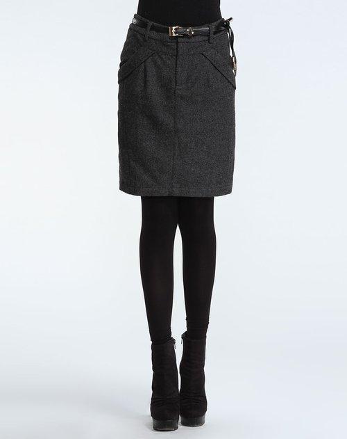 深灰色时尚闪片半裙