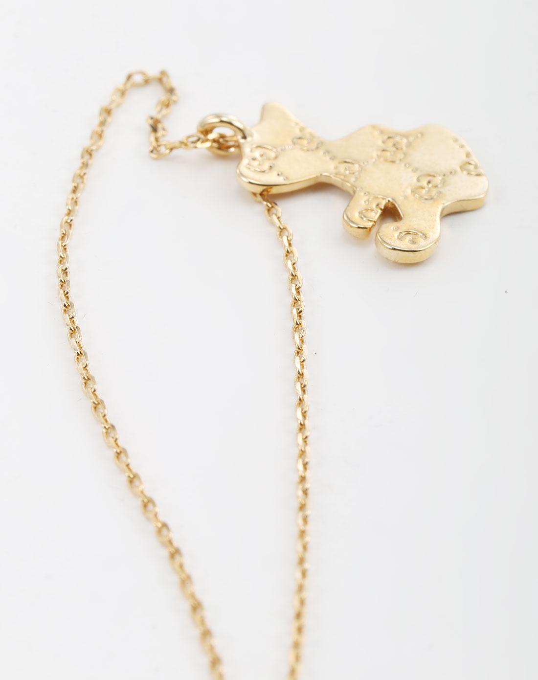 金色动物图案吊饰时尚合金项链