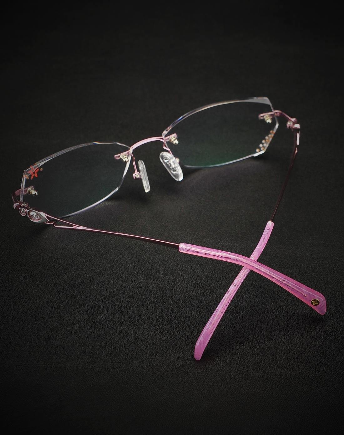 益盾 女款纯钛施华洛世奇海洋之星钻石切边护目镜