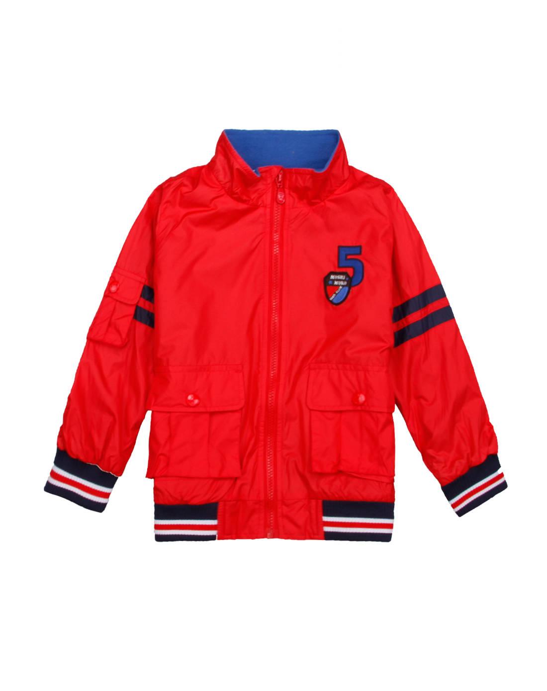 麻希玛柔moshimoro 男童红色化纤薄棉里外套
