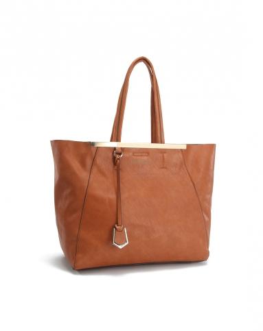 duradura男女鞋&箱包皮具女士棕色优雅气质手挽包