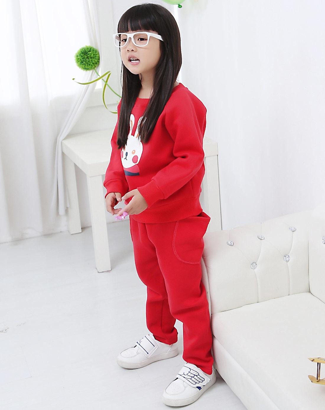 童_女童红色套装