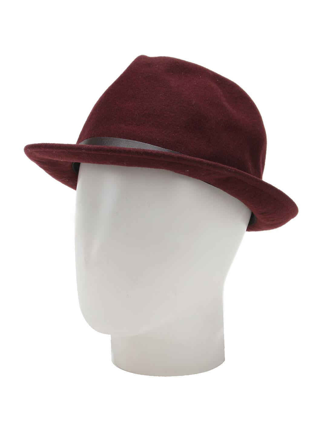 暗紫红色时尚小礼帽