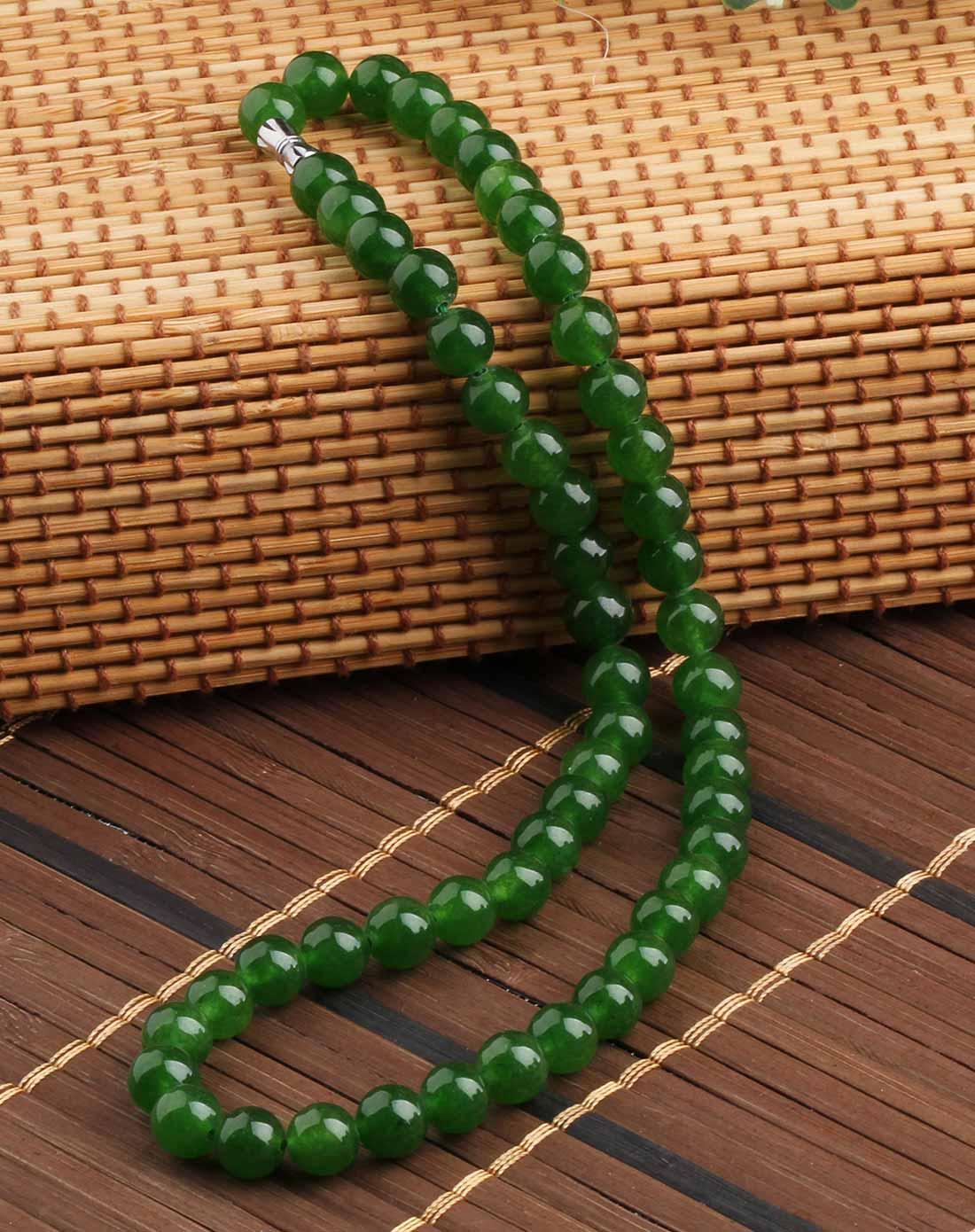 台湾玉项链--油光碧绿