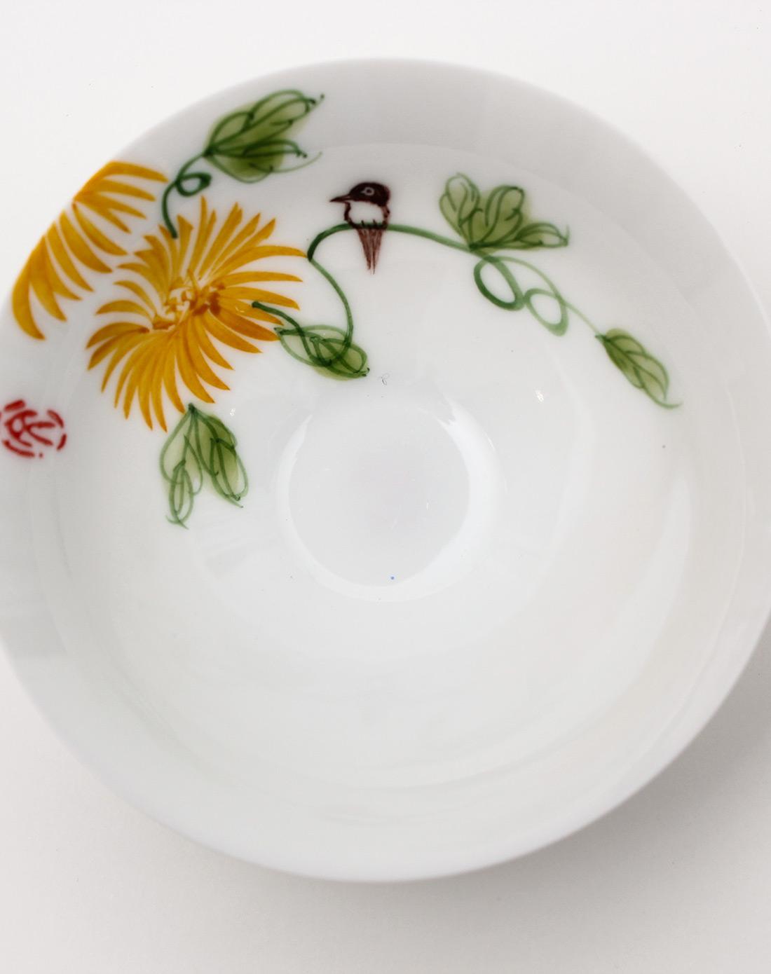 手绘陶瓷斗笠杯(梅兰竹菊)4入