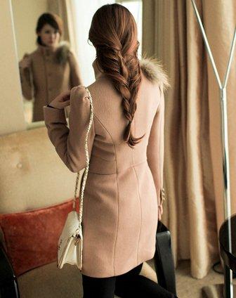 卓茜jascci长袖驼色英伦古典宫廷风时尚大衣j41536in