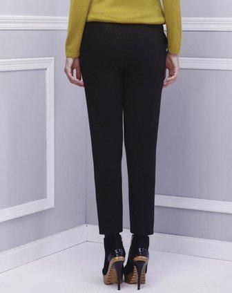 黑色针织喷金裤子
