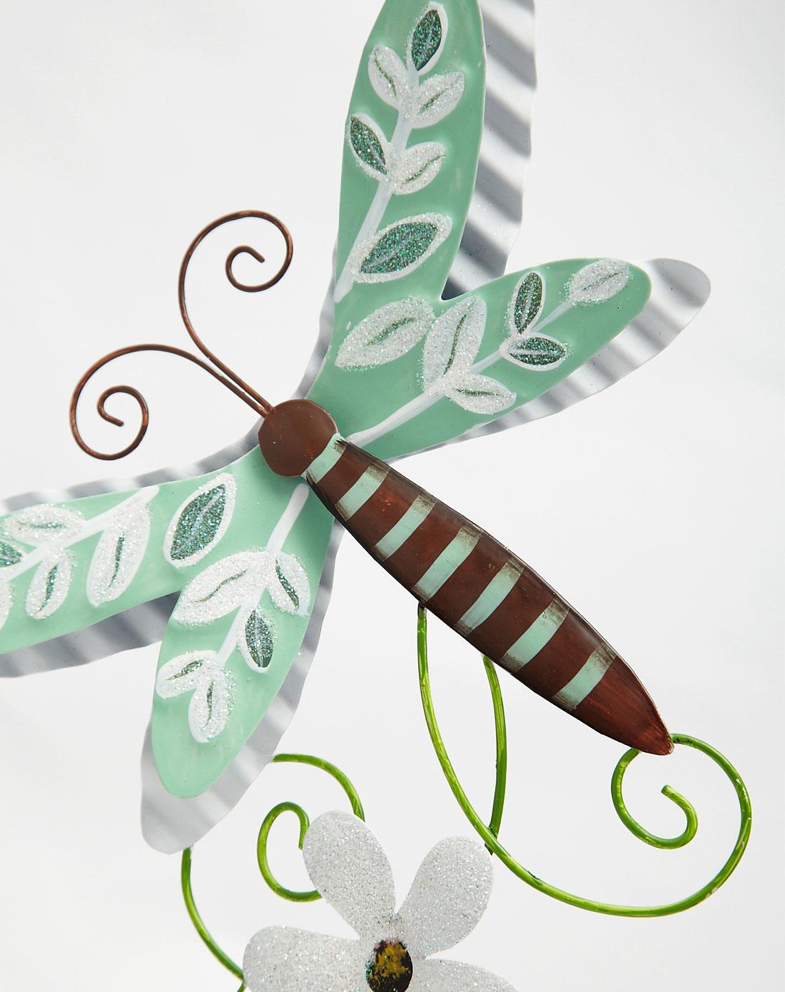 花园小清新手绘玻璃装饰风铃两件套
