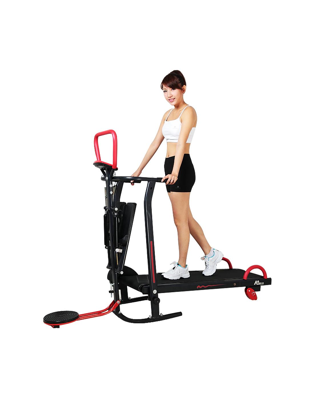 迈乔四合一机械跑步机踏步机扭盘机家用跑步走步机多功能健身器材