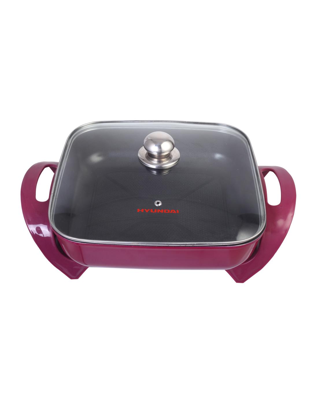 紫红色韩式时尚多功能电热锅