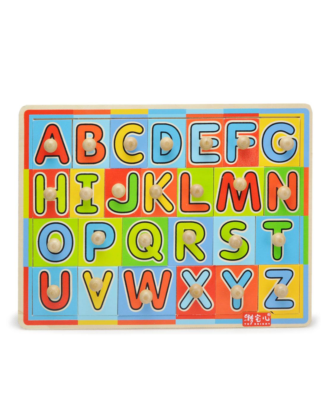 特宝儿26个英文字母圆点抓握拼图