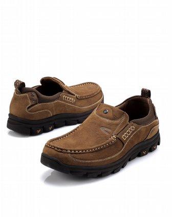active浅棕色牛皮休闲鞋13911202002