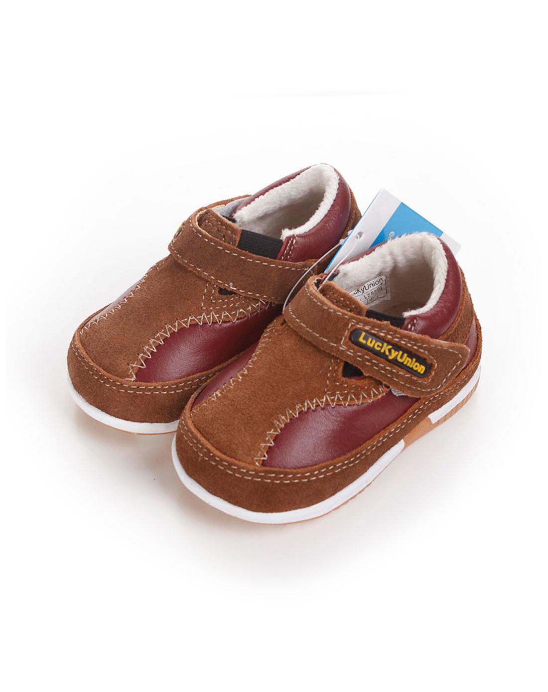男童棕色可爱小皮鞋