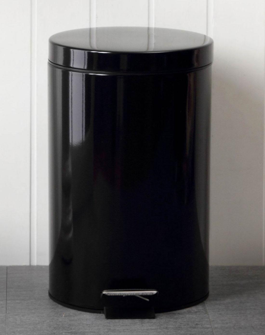 12升黑色烤漆垃圾桶耐脏特别版