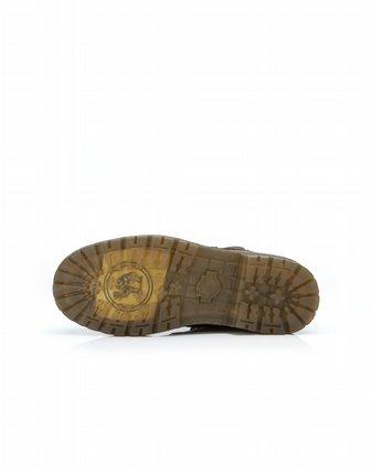 骆驼牌男女鞋男款棕色舒适系带休闲马丁靴w32329069z