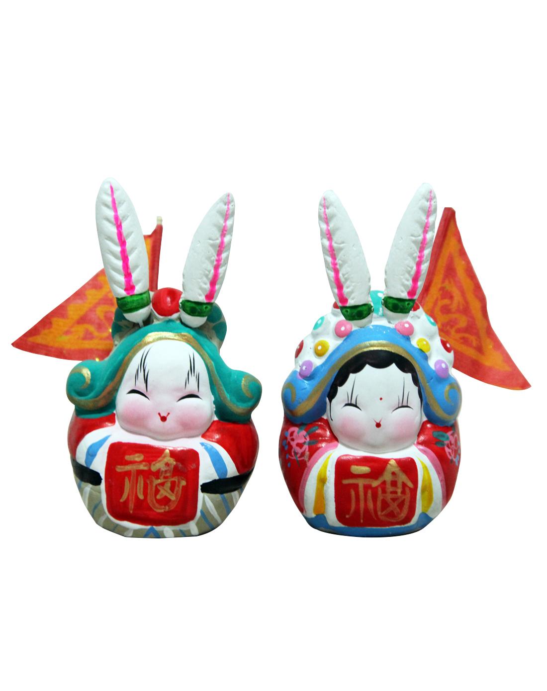 吉庆坊小吉祥兔爷2号(对兔)
