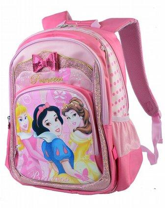 迪士尼disney儿童用品专场女童玫红公主卡通包学生sp