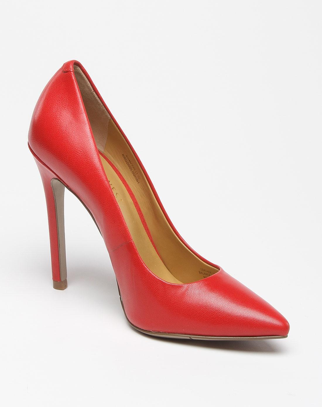 玖熙時尚麗人紅色尖頭高跟鞋圖片