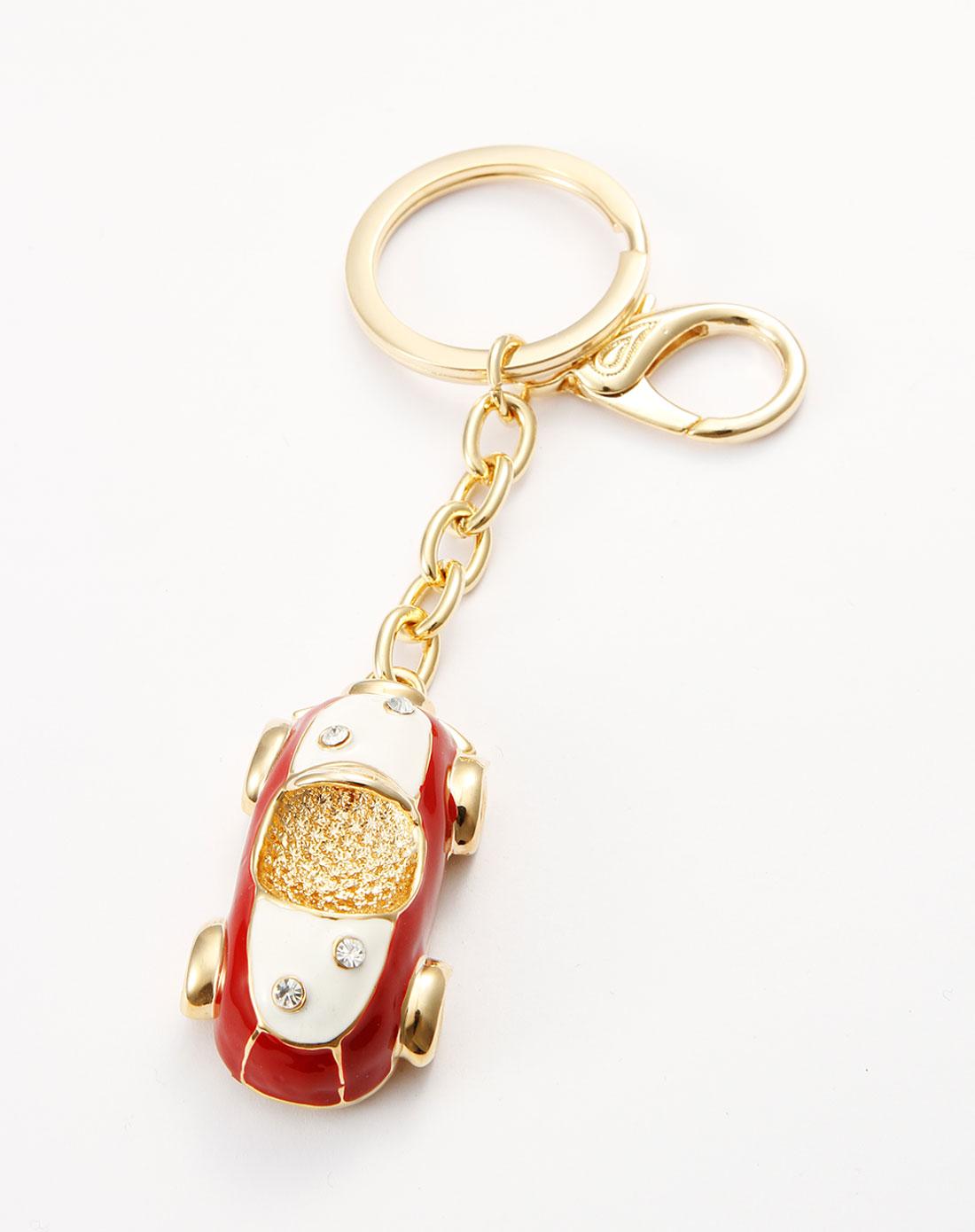 威妮华viennois-红/白/金色小汽车可爱钥匙扣