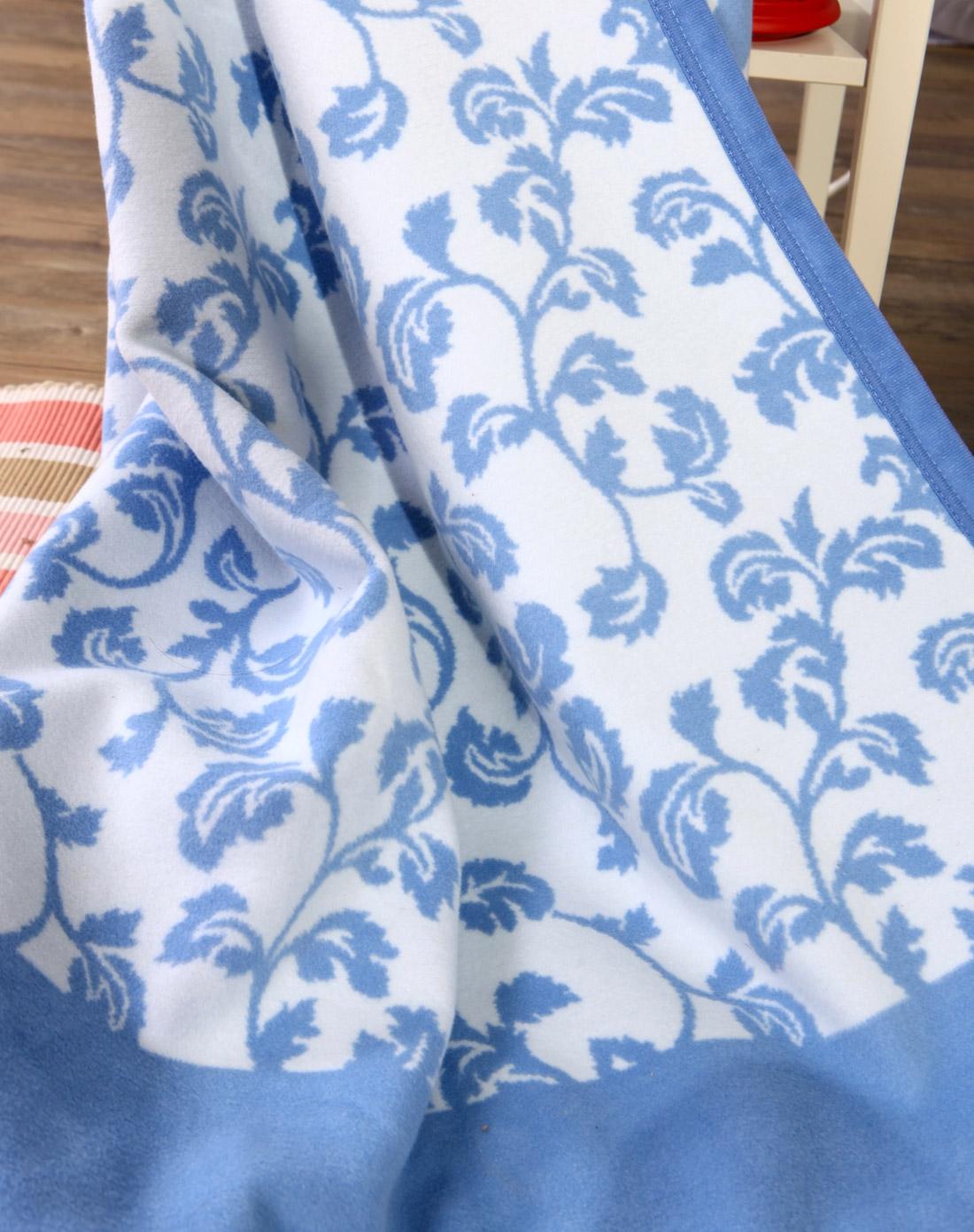 1.2m-提花毛毯-蓝色佩兹利