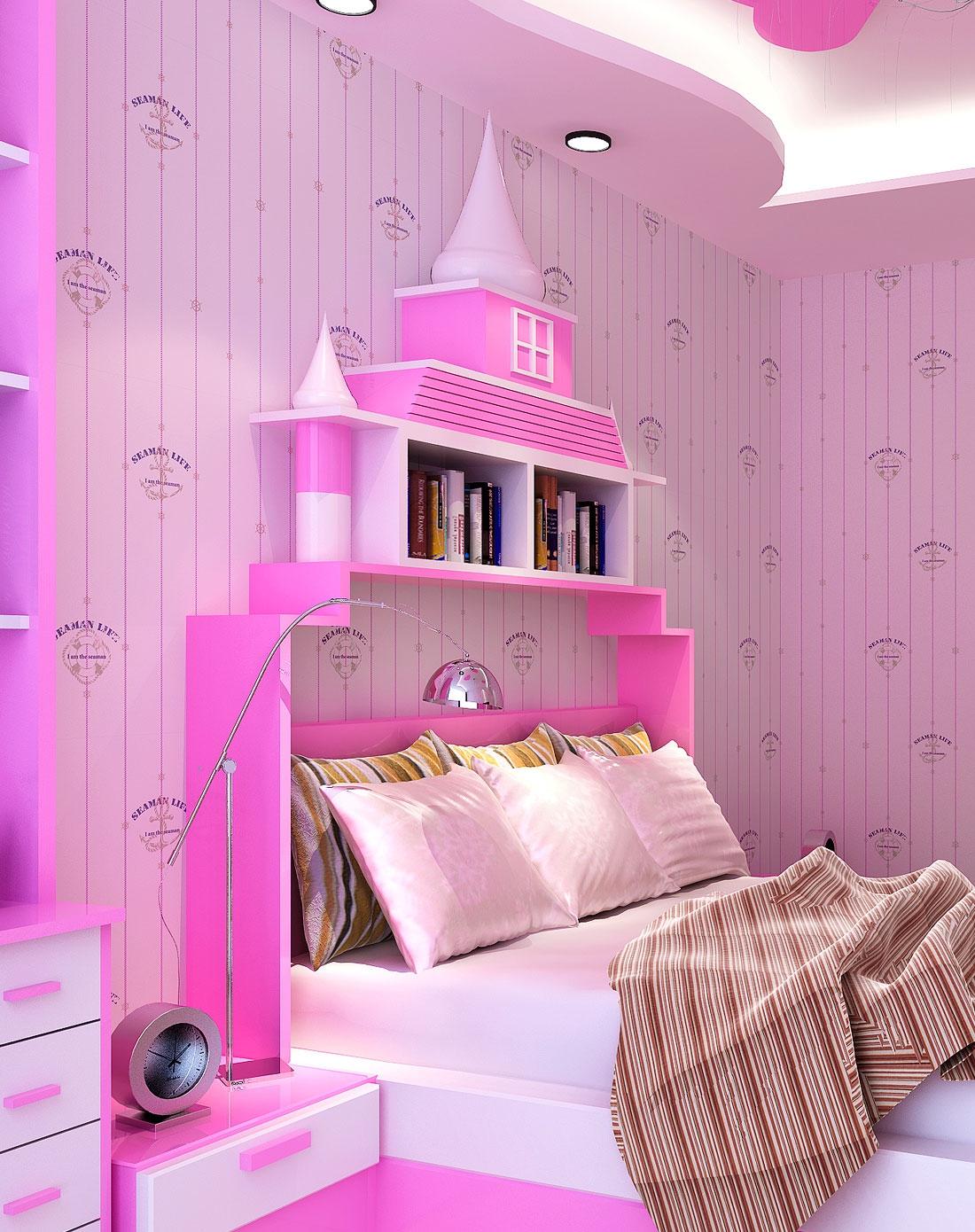 地中海儿童房客厅卧室背景满铺 无纺布壁纸