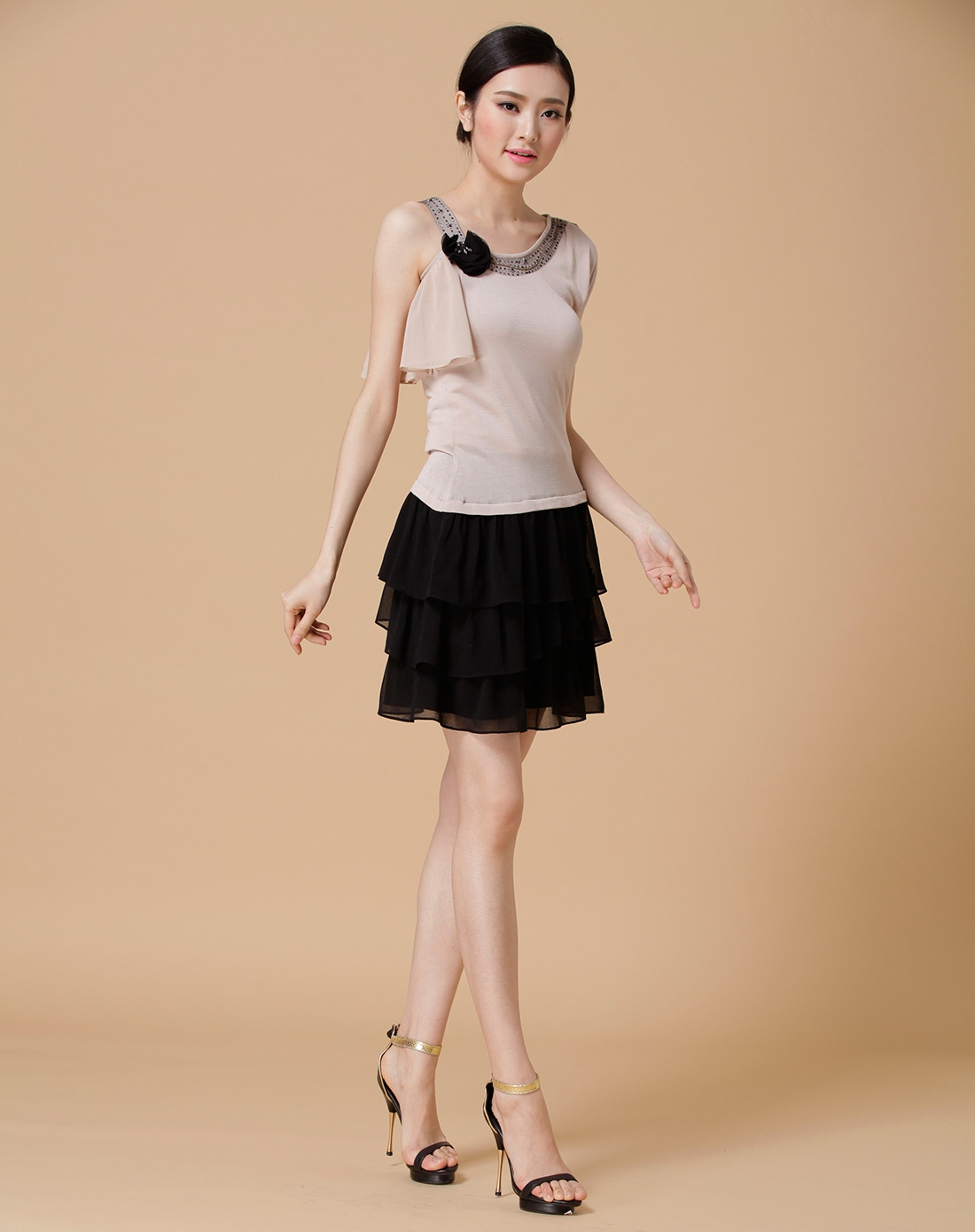 假两件连衣裙女短袖