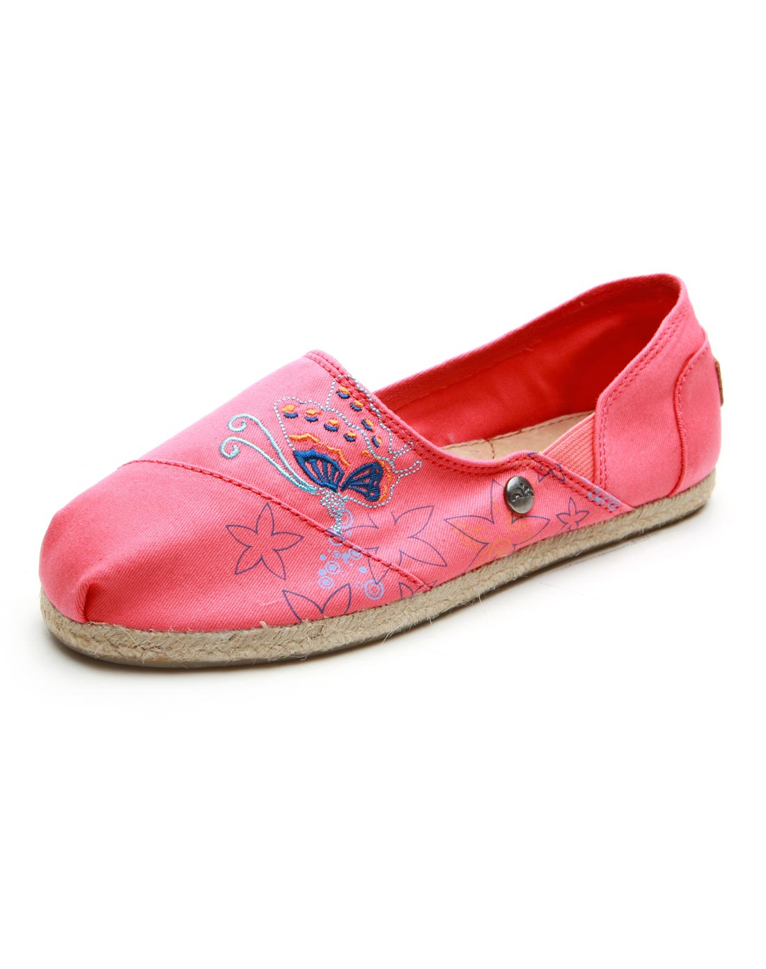 jm春夏新款潮休闲低帮浅口帆布鞋碎花女鞋单鞋子