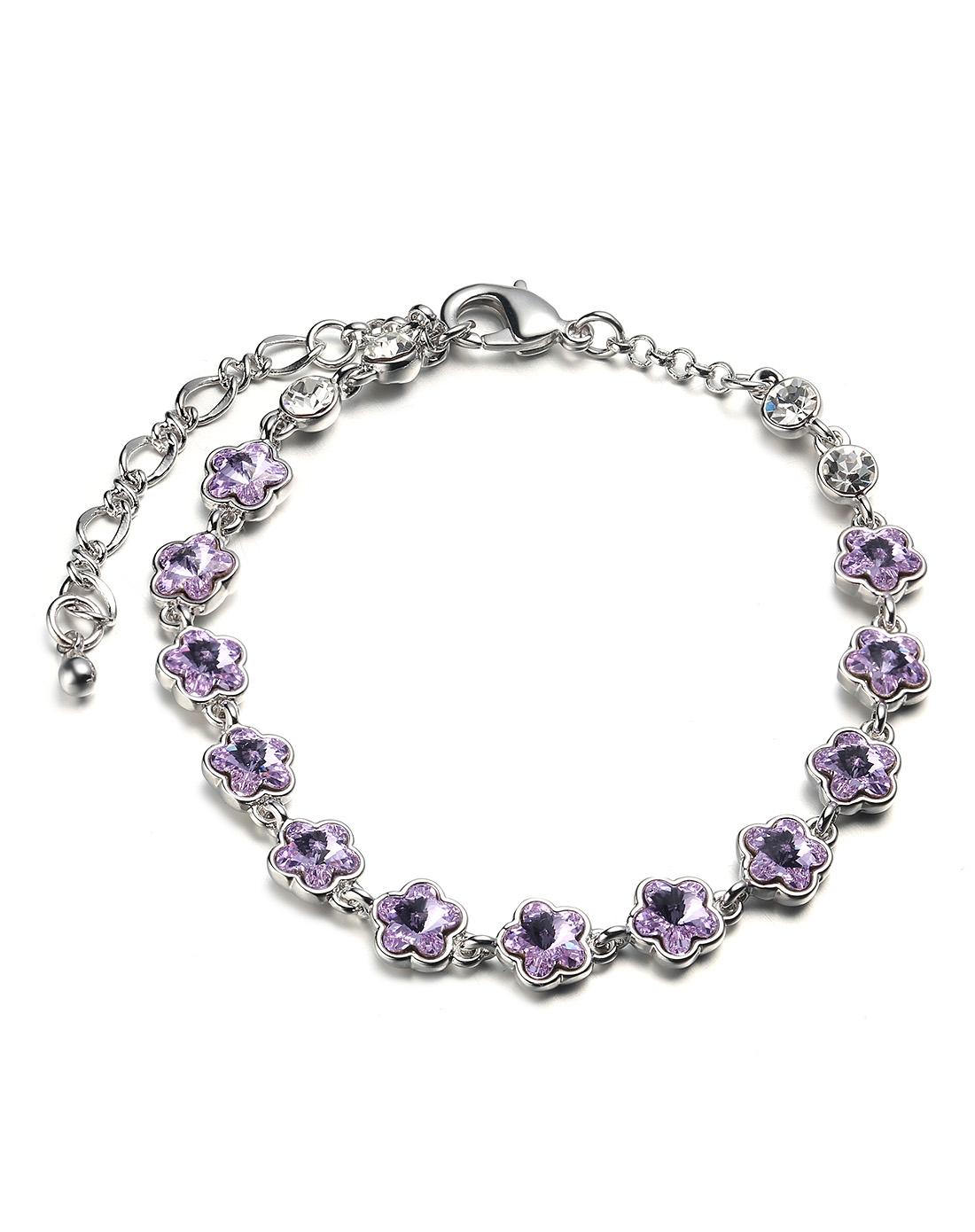 浅紫爱的天堂施华洛世奇水晶手链