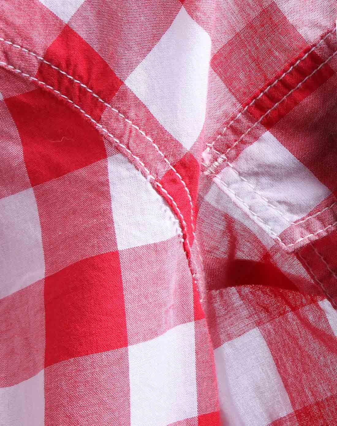 蓝色天空mbsky英伦格纹红白色渐变长袖衬衫0211105