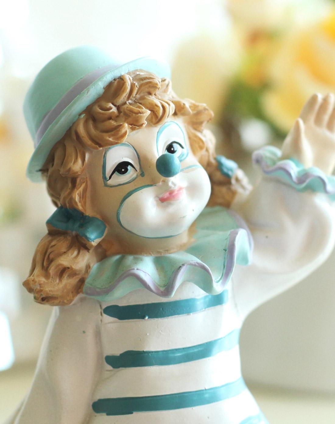 欧式田园可爱小丑坐腿娃娃摆件女孩儿
