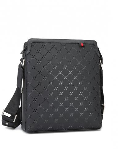 黑色原创品牌logo设计单肩包