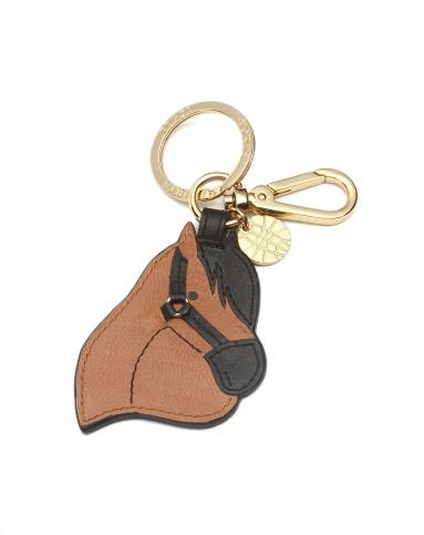 啡/黑色可爱马头钥匙扣