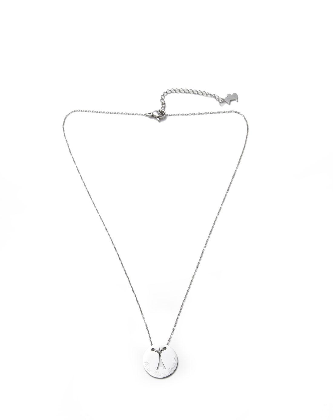 巴黎系列银色埃菲尔铁塔项链