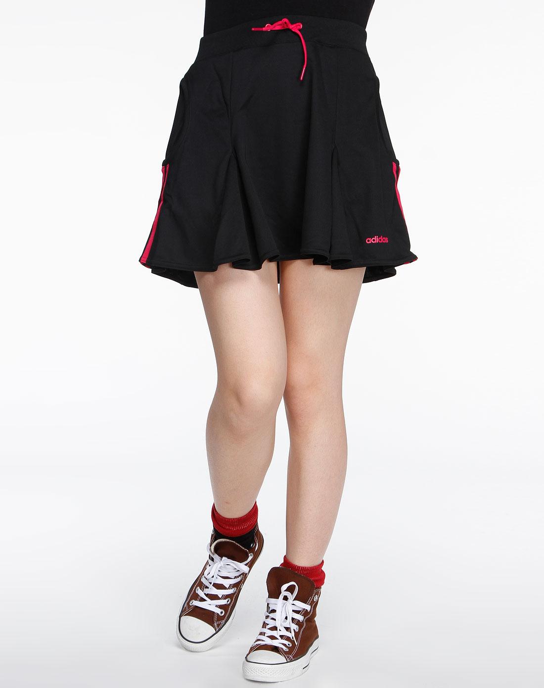 阿迪达斯adidas女装专场-neo 女款黑色运动短裙