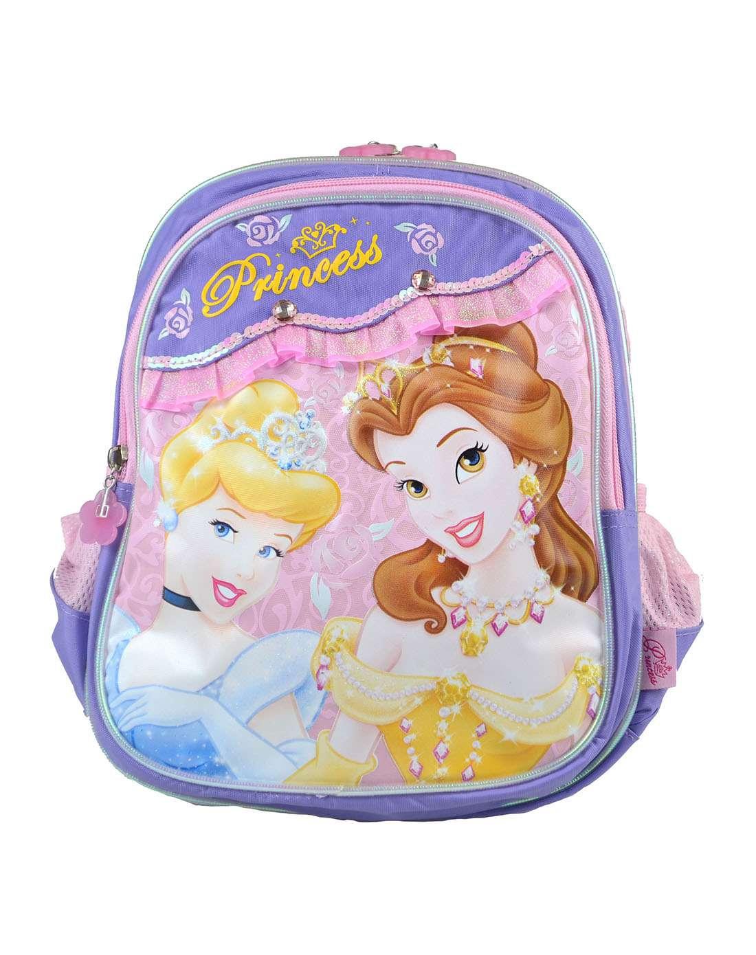 迪士尼disney儿童用品专场女童紫色荷叶边公主卡通pb