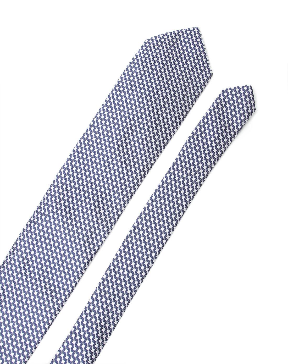 蓝色时尚提花纹领带