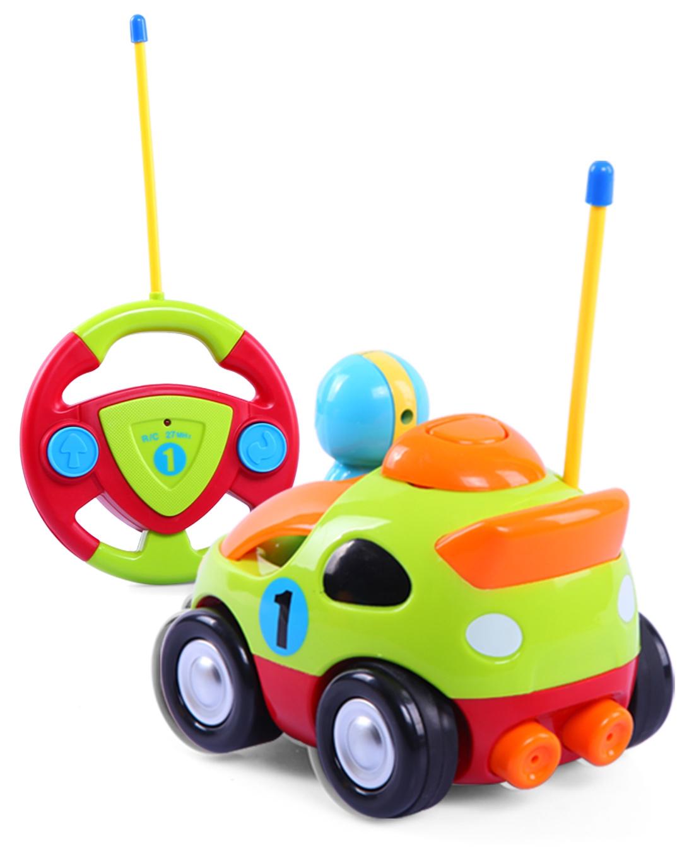 贝恩施 卡通遥控车宝宝玩具车遥控车音乐无线控车 加厚耐摔