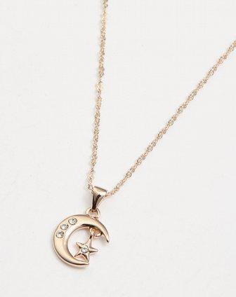 金色月亮星星时尚项链