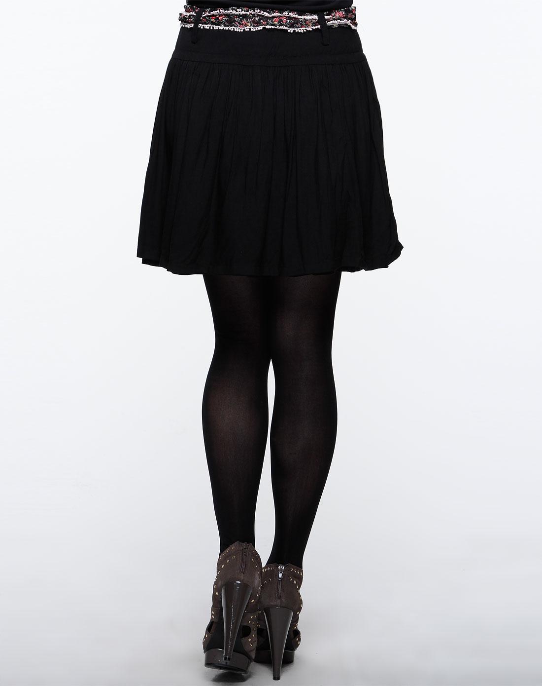 cc&dd黑色时尚短裙c11s175-80