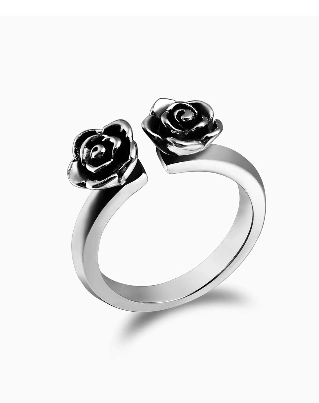 黑暗玫瑰戒指