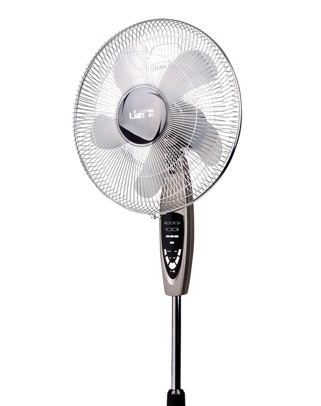 > 一触即停豪华遥控落地式电风扇